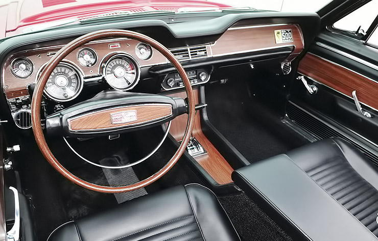 1967 Shelby GT500 convertible interior