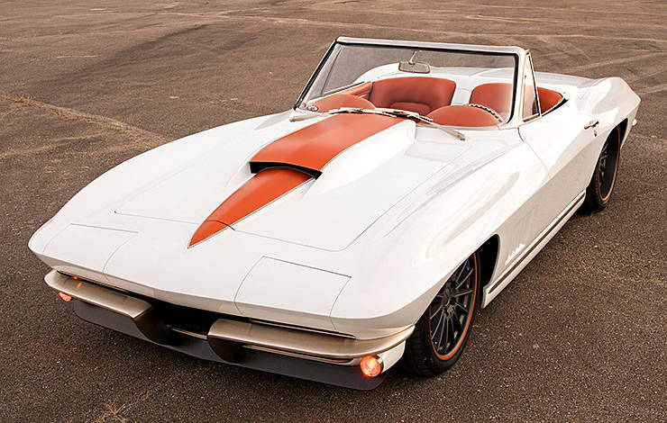 1967 Chevy Corvette front-top view