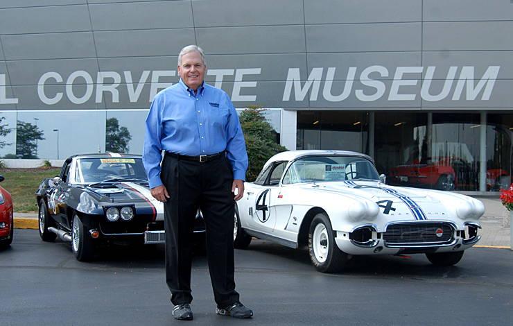 Rick Hendrick in front of Corvette museum