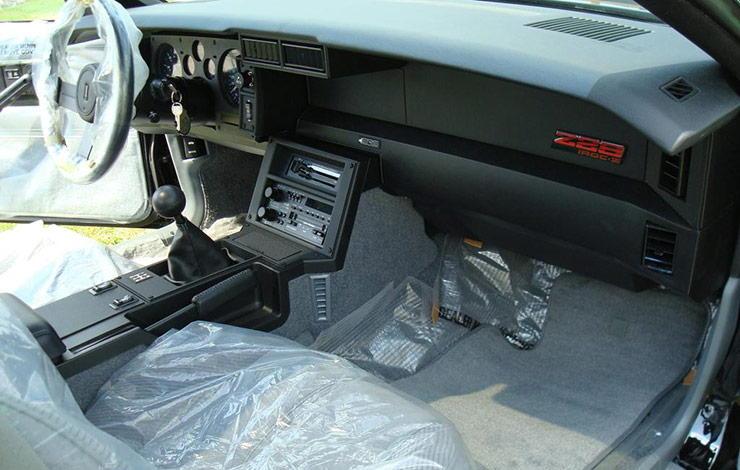 1985 Camaro Z28 IROC with 9.5 miles on the odometer interior