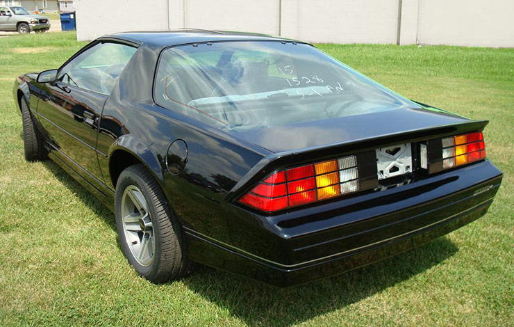 1985 Camaro Z28 IROC with 9.5 miles on the odometer rear