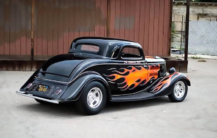 The California Kid 34 Ford hot rod rear