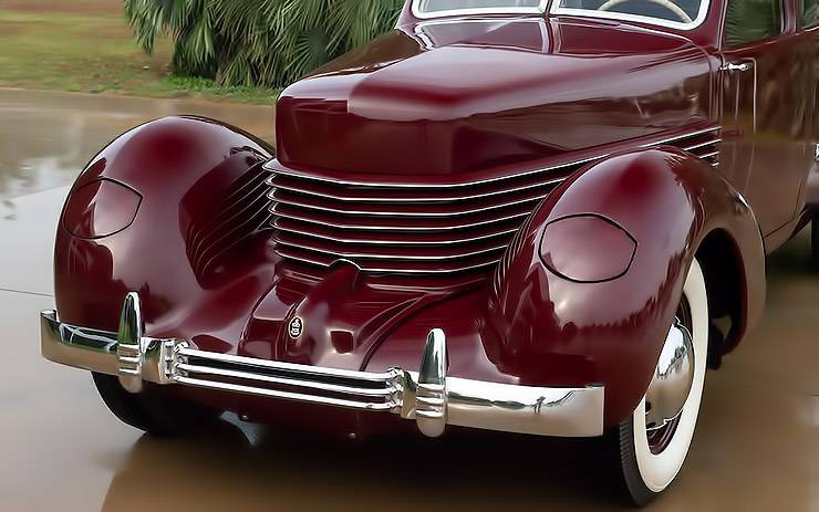 1936 Cord 810 Westchester front