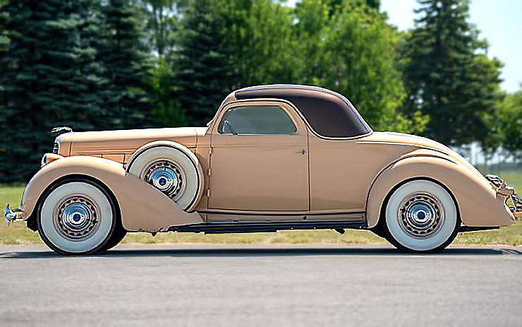 1936 Lincoln Model K 12-cylinder three window Coupe