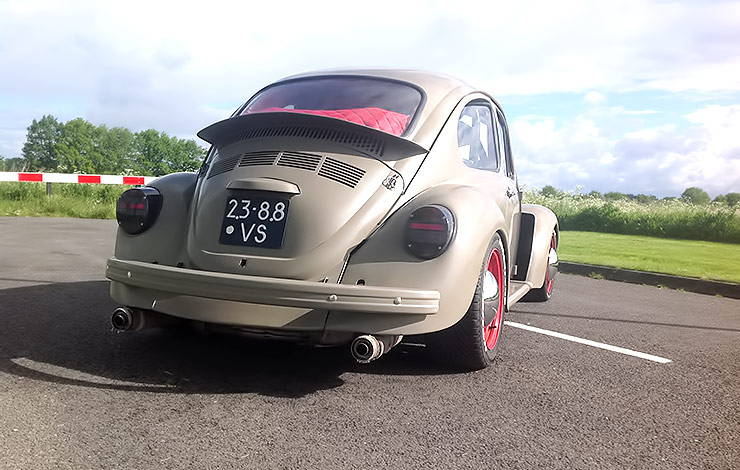 350 HP 1972 VW Beetle with Subaru WRX STi engine rear end