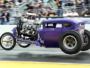 Purple People Eater Hot Rod drag strip