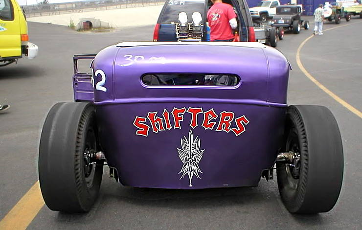 Purple People Eater Hot Rod rear