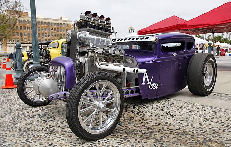Purple People Eater Hot Rod
