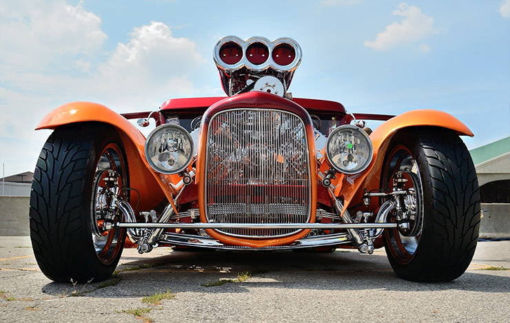 1930 Ford Model A Coupe Hot Rod ABSURD front