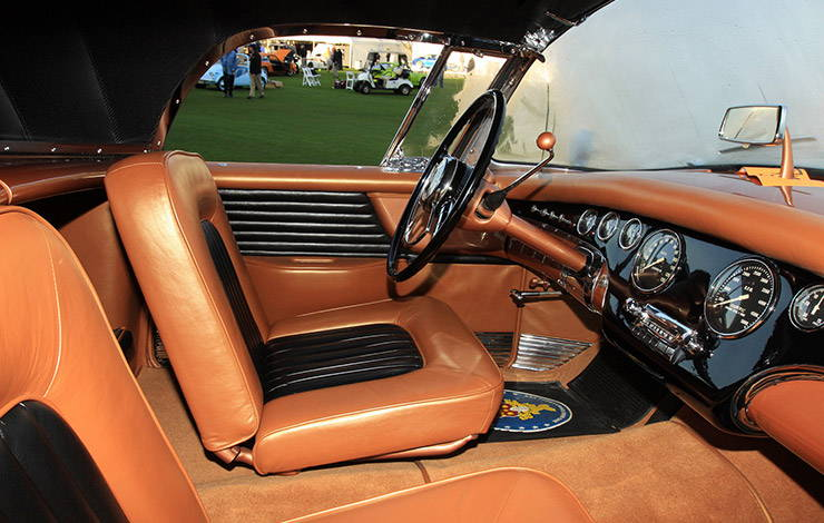 1954 Packard Panther-Daytona Roadster interior