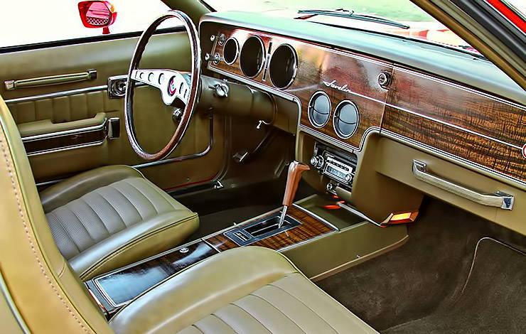 1970 AMC Javelin SST Mark Donohue interior
