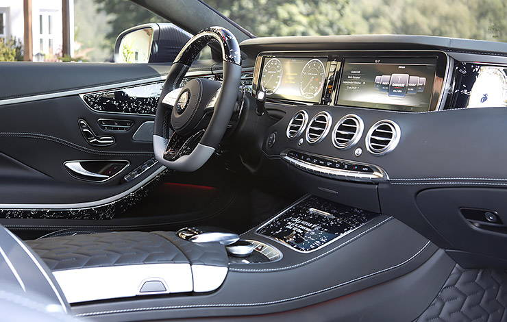 Mansory S63 AMG Coupe Black Edition interior