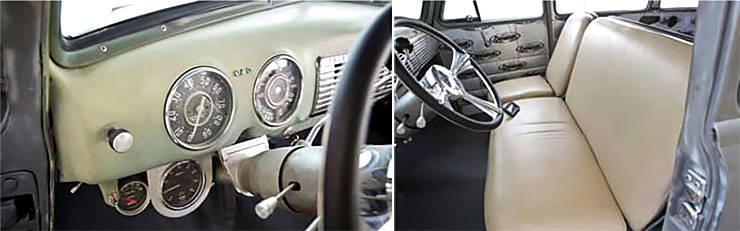 1952 GMC Suburban interior