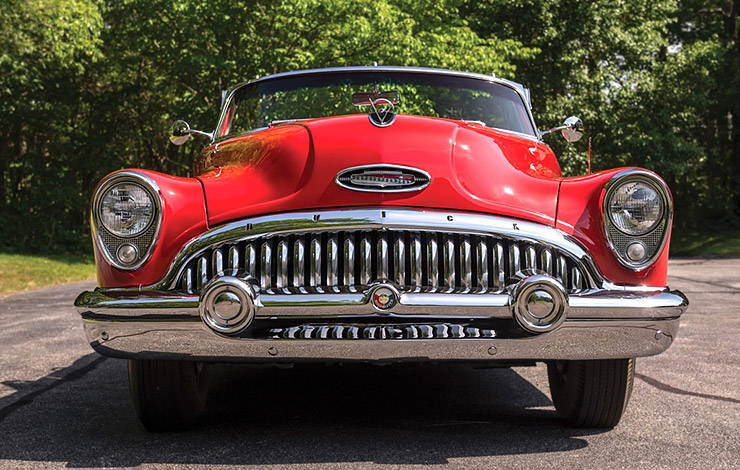 red 1953 Buick Skylark front