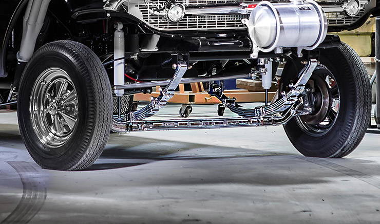 1957 Chevrolet Bel Air gasser front axle