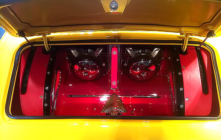 Kicker subwoofer in 1960 AMC Metropolitan