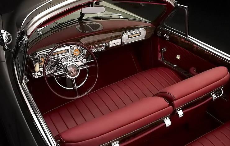 1951 Hudson Hornet convertible interior