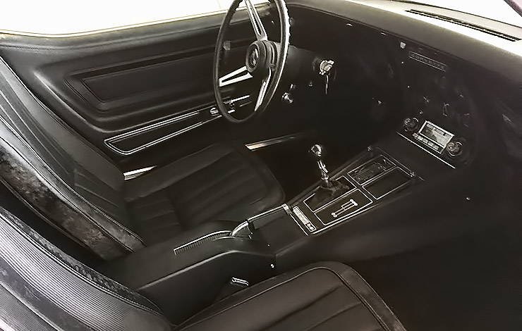 1972 Chevy Corvette 454 time capsule interior