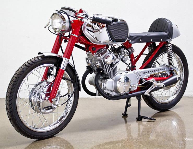 1966 Honda CB160 Poco Bastardo replica front