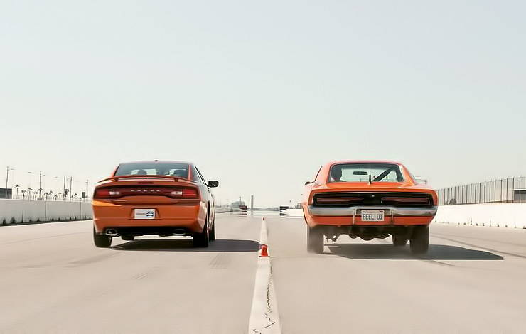 2011 Dodge Charger vs. 1969 Dodge Challenger General Lee