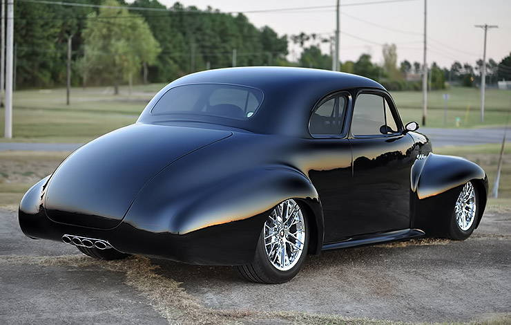 Aubrey King 1940 Buick Super Coupe rear