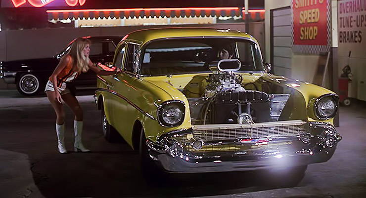 The Project X Chevy, Michelle Pfeiffer and Tony Danza in The Hollywood Knights