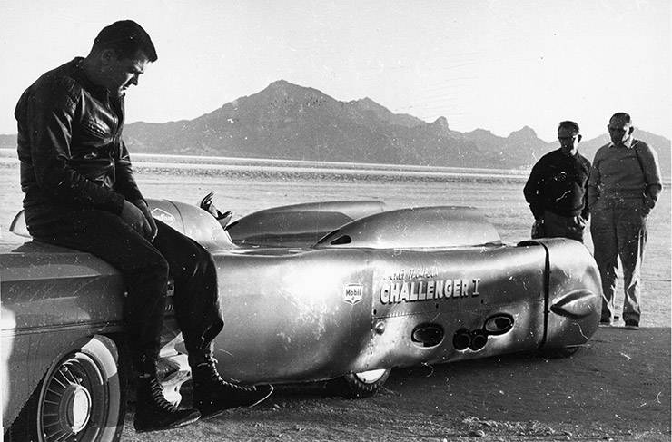 Mickey Thompson and his Challenger 1 in 1960 Bonneville