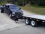 how not to load a Ford F-350 on a trailer