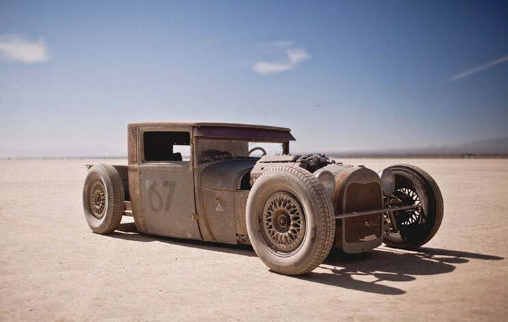 1928 Ford Model A pickup rat rod