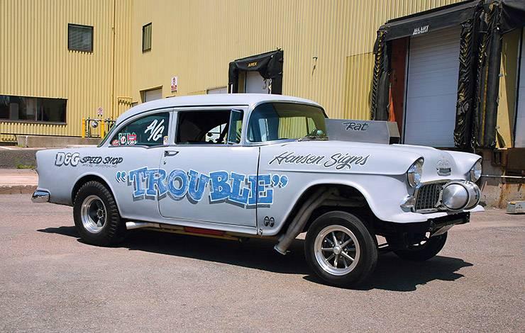 1955 Chevrolet 210 nicknamed Trouble