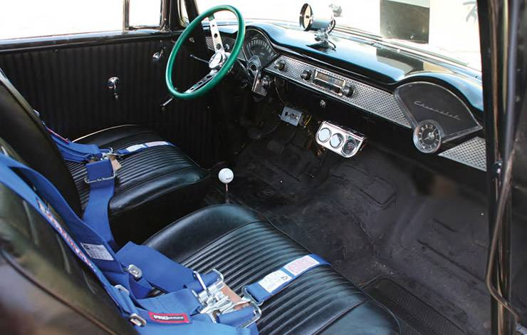1955 Chevy Tri-Five nicknamed Trouble interior