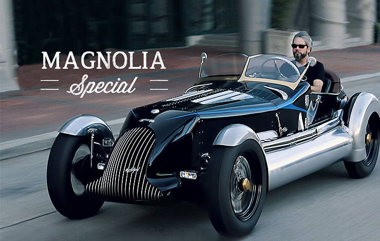 Magnolia Special CNG burning roadster