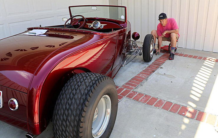 Brian Brennan with his 1929 Model A Roadster Highboy