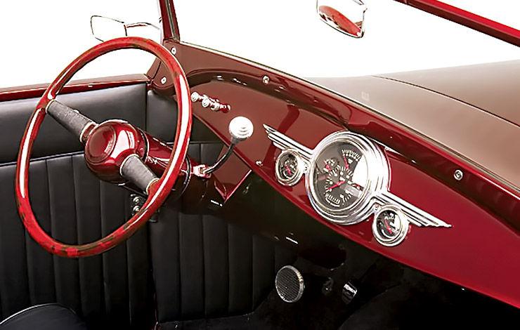 Brian Brennans 1929 Model A Roadster Highboy dashboard