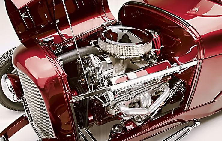 Brian Brennans 1929 Model A Roadster Highboy engine