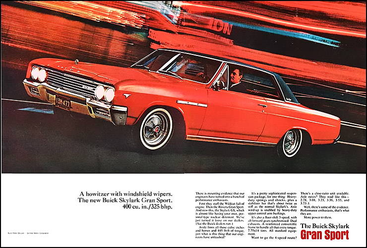 Buick Skylark Gran Sport ad