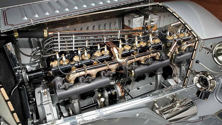 1907 Rolls Royce Silver Ghost motor