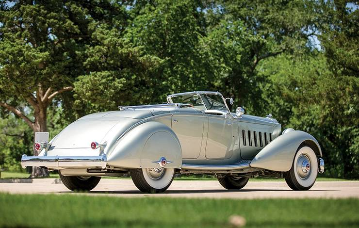 1934 Packard Twelve LeBaron Dual Cowl Sport Phaeton convertible