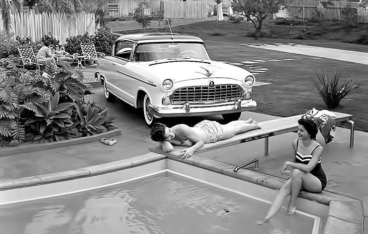 1955 Hudson Hornet Holywood vintage photo