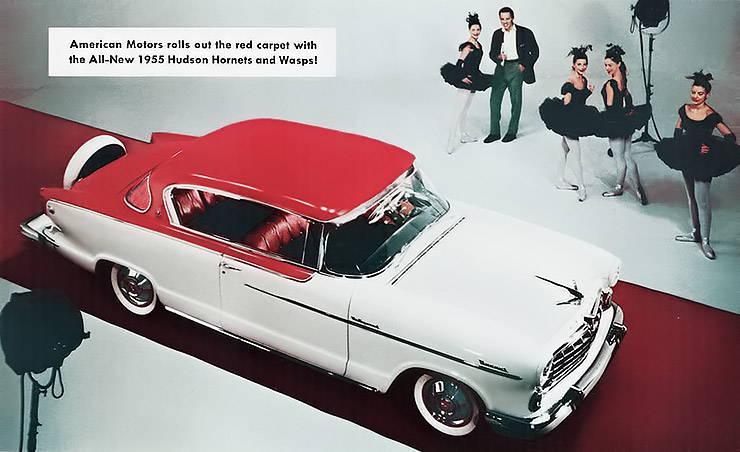 1955 Hudson Hornet Wasp Holywood ad