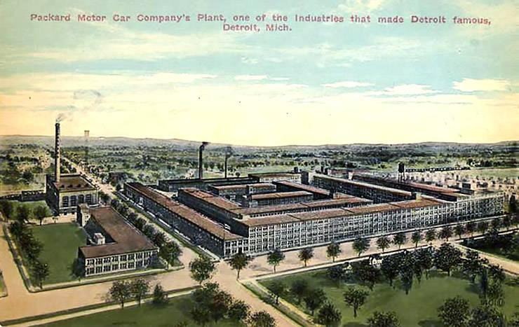 Packard Motor Car plant 1904 in Detroit