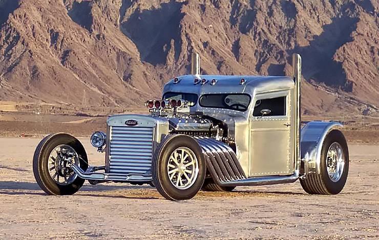 1960 Blastolene Peterbilt Truck Hot Rod three quarters front