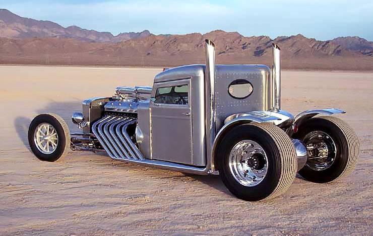1960 Blastolene Peterbilt Truck Hot Rod three quarters rear