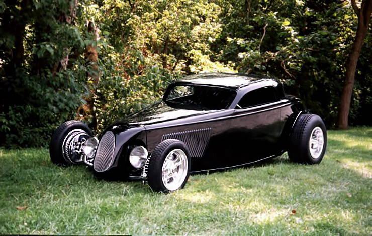 1933 Ford Coupe TRACKSTAR hot rod three quarter left
