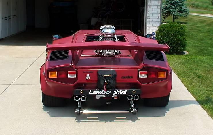 Pro Street Lamborghini Coutach rear