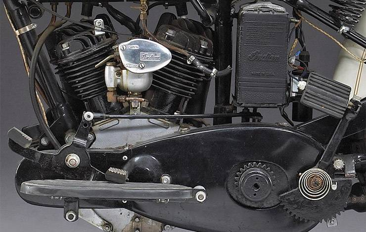 1934 Indian Sport Scout 750cc engine