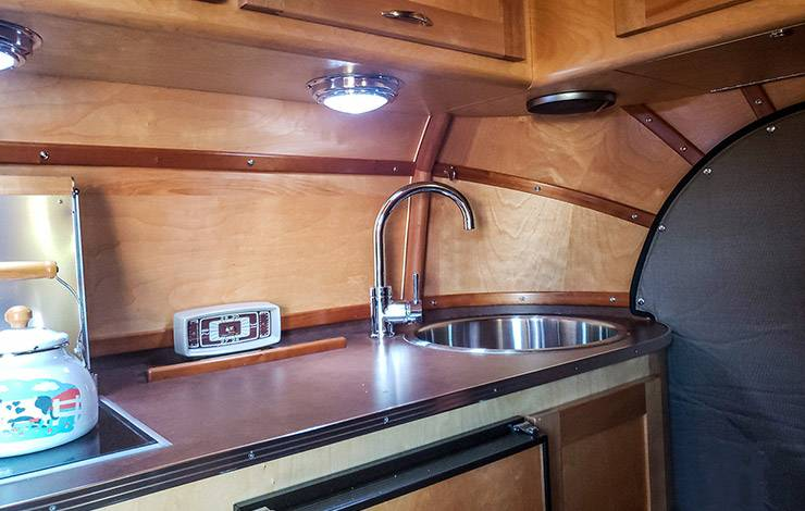 1954 Chevrolet COE Tourliner motorhome kitchen