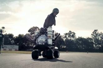 630hp V8 powered skateboard