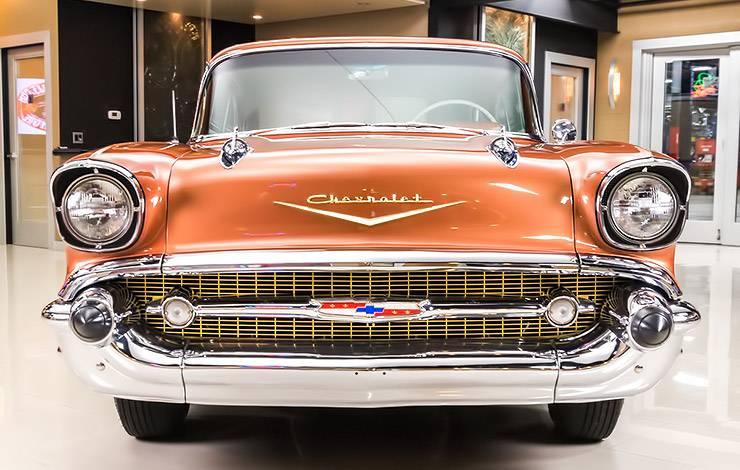 Sierra Gold 1957 Chevrolet Bel Air front end