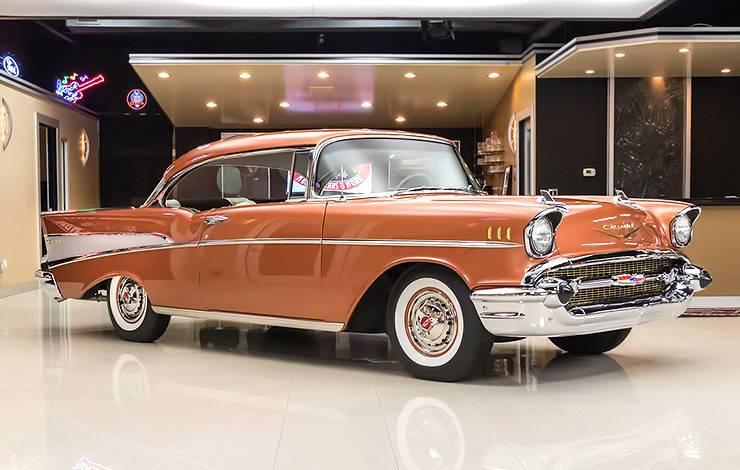 Sierra Gold 1957 Chevrolet Bel Air front right